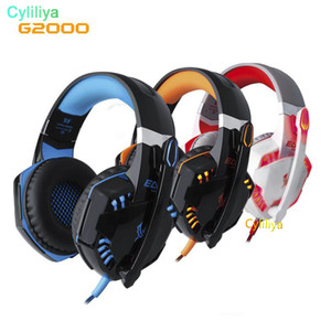 Wholesale New EACH G2000 Deep Bass Headphone Stereo Surrounded Over Ear Gaming Headset Headband Earphone with Light for PC LOL Game