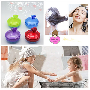 Wholesale Silicone Shampoo Brush Shampoo Scalp Massage Brush Silicone Hair Washing Comb Body Bath Spa Slimming Massage Brushes Scrubbers T2I5041