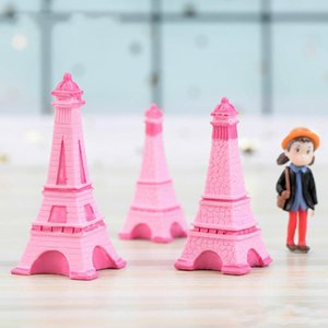Eiffel Tower Resin Craft Miniature Fairy Garden Desktop Room Decoration Micro Landscape Accessory Cactus Planter Gift Novelty Items