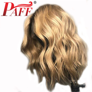 Wholesale PAFF 4T27 Honey Blonde Body Wave Lace Front Human Hair Wigs Brazilian Remy Hair 13x3 Lace Wig With Baby Hair