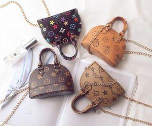 New Kids Purses Little Girls Gifts Toddler Purse Kid Mini Messenger Bag Children PU Leather Shell One Shoulder bag