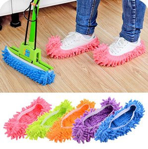 Wholesale Foot Socks Creative Lazy Mopping Shoes Microfiber Mop Floor Cleaning Mophead Floor Polishing Cleaning Cover Cleaner DHL LX6331