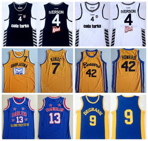42 pelicula al por mayor-College Movie del baloncesto Allen Iverson Jersey Besiktas Cola Turka Scott Howard Jimmy Brooks Wilt Chamberlain Toni Kukoc