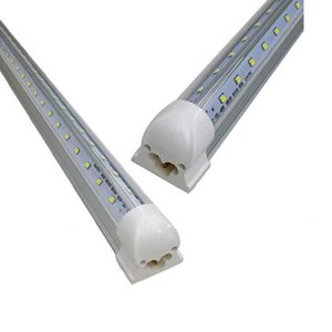 Wholesale T8 Led Tubes Light ft ft ft ft ft V Shaped Led Cooler Door Tubes Lighting Freezer double row shop lights fixture