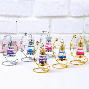 Wholesale Vintage Oil Lamp Candle Holder Wedding Romantic Golden Chandelier Candlestick Bedroom Marine Microlandschaft Desk Decoration Pieces DHL