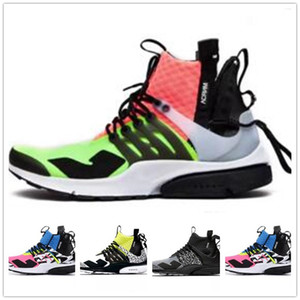 Wholesale Best quality ACRONYM X Presto Mid V2 Running Shoes Mens Yellow Black White Darts Street Sneakers Womens Camouflage Graffiti Boots