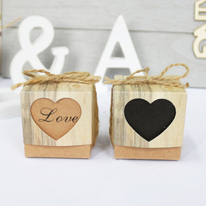 10sets Heart Kraft Paper Gift Box Wedding Gift Prince Princess Baby Shower Candy Box Paper Bag Kids Birthday Party Decoration