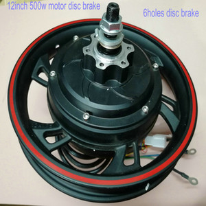 12inch 36v48v500w gearless motor with hallsensor disc drum brake electric bike scooter MTB tricycle mobility ATV motorcycle part