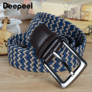 Deepeel 1PC BD483 Casual Business Decoration 50mm*100cm Men's Breathablet Metal Pin Buckle DIY Silk Woven Belt