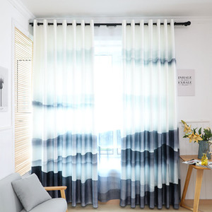 Wholesale Classical Ink D Digital Printing Landscape Painting Curtains for Living Dining Room Bedroom