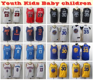 2019 Kids Youth Boys Swingman Jersey Stitched23 Michael JD Kevin Durant Stephen Curry Paul George Russell Westbrook Basketball Jersey