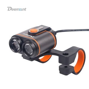 Deemount Bicycle Headlight 8.4V Bike Front Lamp Dual Chips 400Lumens Optional #18650 Power Box 8.4V 5.0V Output Cycling Lighting #203587