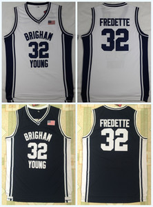 Wholesale Cheap Brigham Young Cougars Jimmer Fredette College Basketball Jerseys 32 Jimme 100% Stitched College Basketball Jerseys S-3XL Fast Shipping