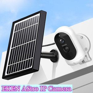 1080p Full HD EKEN AStro IP Camera with Solar Panel IP65 Weatherproof Motion Detection 6000mAh battery Security Camera with motion detection
