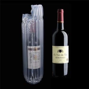 Wine Bottle Protector Gas Column Wrap Bags Sleeves Glass Travel Transport Air filled Column Leakproof Cushioning Air Dunnage Bag on Sale
