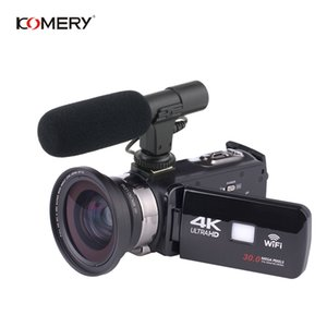 Wholesale KOMERY Original Video Camera K Support Wifi Night Vision Inch LCD Touch Screen Time lapse Photography Three year Warranty