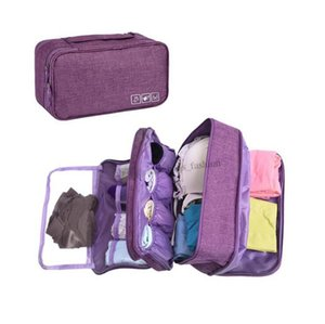 Travel Storage Bag Cosmetic Makeup Clothes Cosmetic Underwear Socks Organizer Wash Pouch Multi-pocket Wardrobe Closet Organizer