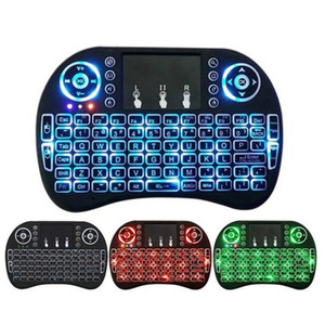 3Colors Mini Rii i8 Wireless Keyboard 2.4G English Air Mouse Keyboard Remote Control Touchpad for Smart Android TV Box Notebook Tablet Pc