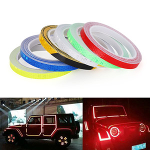 1PC 6 Colors Motorcycle Rim Tape Reflective Wheel Stickers Decals Vinyl Decals & Stickers Motorcycle Accessories & Parts