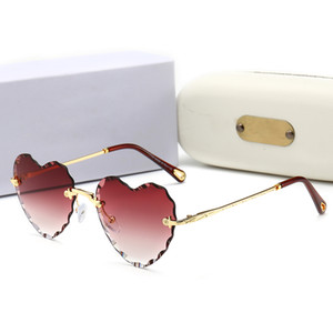 Top quality sunglasses Fashion Brand designer Glass Lens 62MM Metal Frame UV400 sunglass Mens Womens sun glasses with box And case