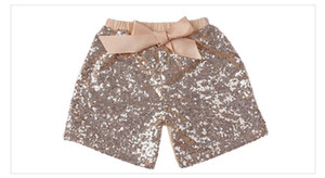 Fashion design girl Glitter Short Pant cute Baby Girls Sequins bow-knot Princess cotton Shorts panties 3-8T