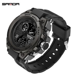 Wholesale 2019 Top Brand Luxury Men Military Watches G Style Sports Men's Clock Man 3ATM Shock Resist Wrist Watch Black relogio masculino J190614