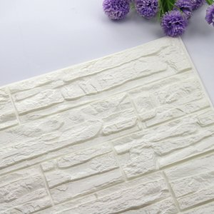 Wholesale 60x60cm D Brick Wall Stickers Living Room DIY PE Foam Wallpaper Panels Room Decal Stone Decoration Embossed Wallpapers Poster