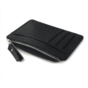 Wholesale Women Big Men Fashion Black Style Multi card Card Holder Wallet Frosted Fabric Card Holder Wallet Leather Balck