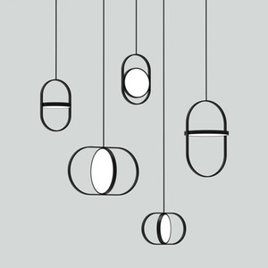Wholesale Nordic Personality Art Circular Pendant Lights Modern Simple Bedroom Resturant Study Bar Hanging Lamp Tea Shop Suspended Fixture