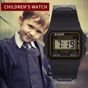 Wholesale Fashion Luxury Children Analog Digital Sport LED Wrist Watch Silicone Band Waterproof Boys Watches Clock Gift reloj hombre