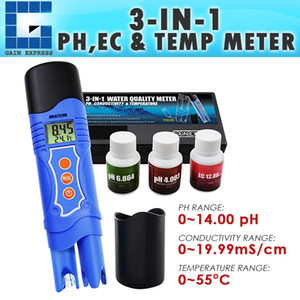 Wholesale ECM-226 3-in-1 Conductivity EC & pH & Temperature Meter Multi-parameter Tester Digital Pen ATC, Water Quality Test Analyz
