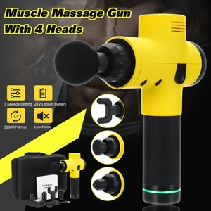 24V Portable Electronic Therapy Muscle Massage Guns Vibration Massage Body Relaxation Device With 4 Heads Relax Muscle Tools