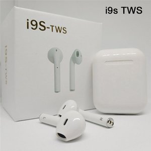 Wholesale i9s i7s tws Bluetooth Earphone Wireless Headphones invisible Earbuds Stereo magnetic charger case PK i8X i10 for iPhone X Samsung xiaomi