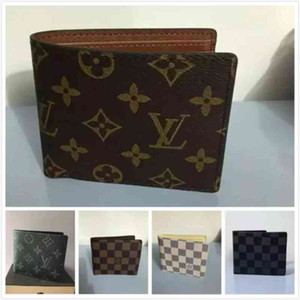 Wholesale Paris plaid style Designer mens wallet louis famous men luxury purse special multiple short small bifoldwallet