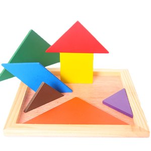 Wholesale Benefit intelligence building block tangram early education has the will power puzzle board toy improve hand on ability For years