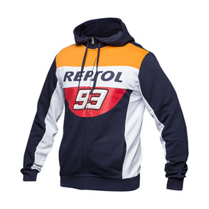 New 100% Cotton Repsol 93 Zip Hoodie Moto GP Motorcycle Racing Sports Crew Fleece Sweatshirt 9