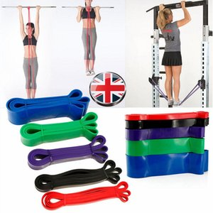 Wholesale HiMISS Exercise Resistance Loop Bands Yoga Resistance Belt Latex Stretching Band Physical Therapy and Home Fitness Random Color