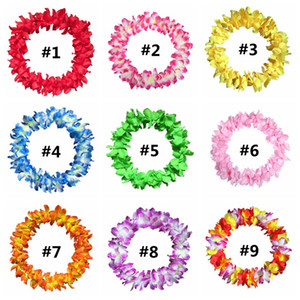 Wholesale artificial hawaiian flower garland resale online - Hawaiian Flower Garland Necklace Fashion Beach Party Wedding Artificial Flower Decoration Cheerleading Garland Necklace Style HHA1086