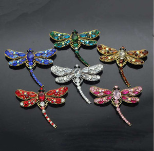 Wholesale Dragonfly Brooch Men Women Wedding Brooch Iced Zircon Jewelry Gift fashion broche for party High Quality
