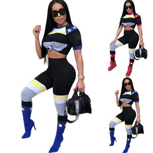 Luxury Designer Jogger Sportswear Printing T Shirt Legging 2 Pieces One Set Tracksuit Personality Spring Womens Home Clothes 35xr E1