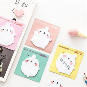 Wholesale small memo pads resale online - cute sticky notes small rabbit note pad pieces paper korean style notes message notes memo