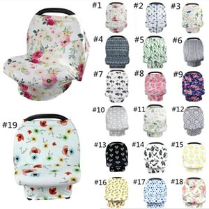 Ins Baby Nursing Cover Breast Feeding Cover 19 styles Baby Carseat Canopy Stroller Canopy Stretchy Stroller Seat Cover Baby Wraps z280 12pcs