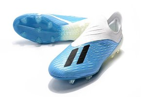 Wholesale Top X FG Football Boots SKELETALWEAVE X Tango TF FG Men Soccer Shoes Blue White Soccer Cleats