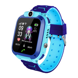 Wholesale For Kids Q12 Children Wrist Watches Smartwatch Remote Anti Lost Camera SOS Waterproof SIM Call Voice Call For Android IOS Best Gift