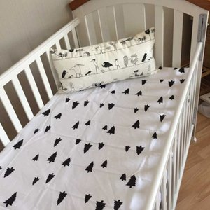 Wholesale Baby Cotton Crib Fitted Sheet For Newborn Cot Sheets Baby Bed Mattress Cover Beautiful Printing Pattern For Infant Bed