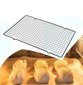 Wholesale Carbon Steel Nonstick Cooling Rack Mesh Grid Baking Tray For Biscuit Drying Stand Wire Pan Baking Rack Bakeware AY021