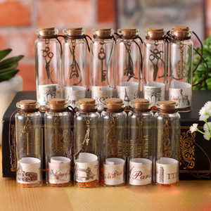Mini Wishing Bottle Wish Bottle Clear Glass Storage Vial with Cork Stopper for Photography Shooting Decoration Props Accessories