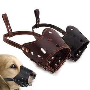 Wholesale leather muzzles for sale - Group buy Adjustable Leather Dog Muzzle Anti Bark Bite Chew Dog Training Products For Small Medium Large Dogs Outdoor Pet Products XS XL