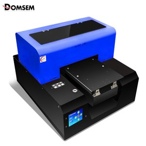 Wholesale Original DOMSEM A4 UV flatbed Printer Printing Machine for Phone Case Wood Leather Glass Acrylic Board Color options Free Ink
