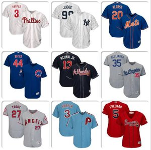 Wholesale Mens Baseball Jersey Bryce Harper Javier Baez Pete Alonso Cody Bellinger Mike Trout Freddie Freeman cool flex base jerseys Shohei Ohtani